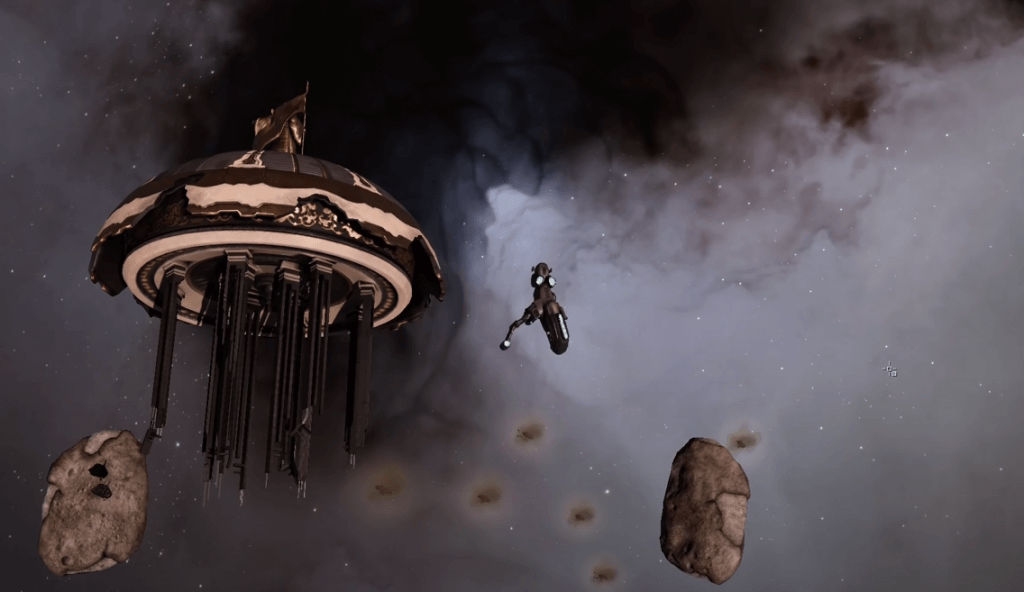 EVE Online gameplay - mmorpg and space flight simulation game