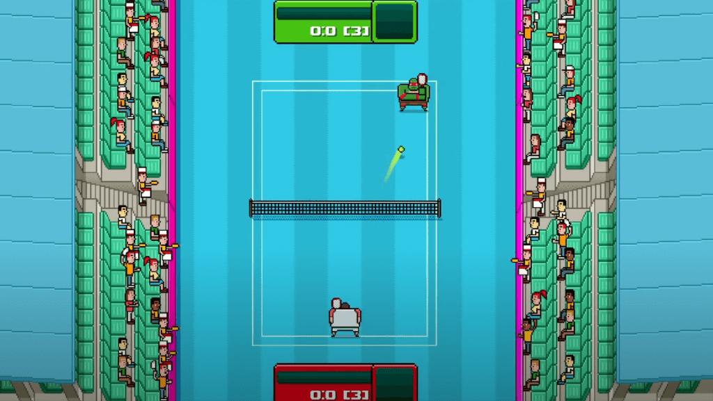 Timber Tennis: Versus interesting gameplay
