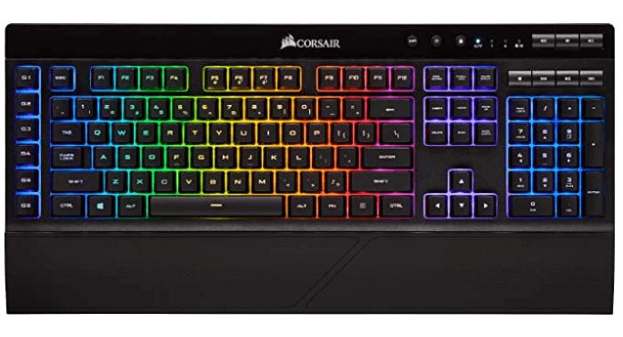 The most fantastic wireless backlit keyboard: CORSAIR K57 RGB Wireless Gaming Keyboard