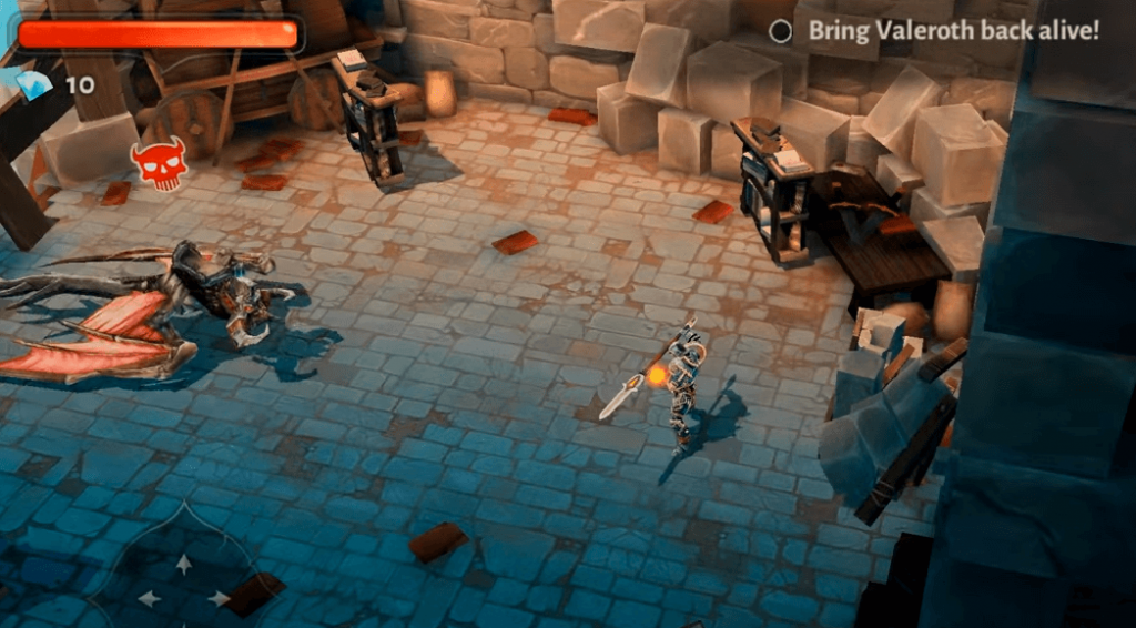 Dungeon Hunter 5 gameplay - an open world game for mobile android