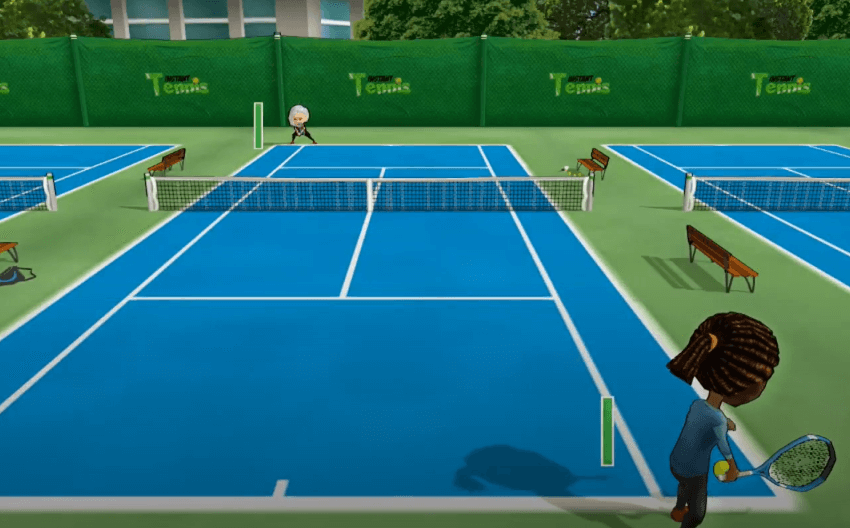 Instant Tennis gameplay - one of the best tennis games for Nintendo Switch