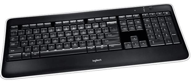 The best choice for PC gaming with key illumination: Logitech K800 Wireless Illuminated Keyboard