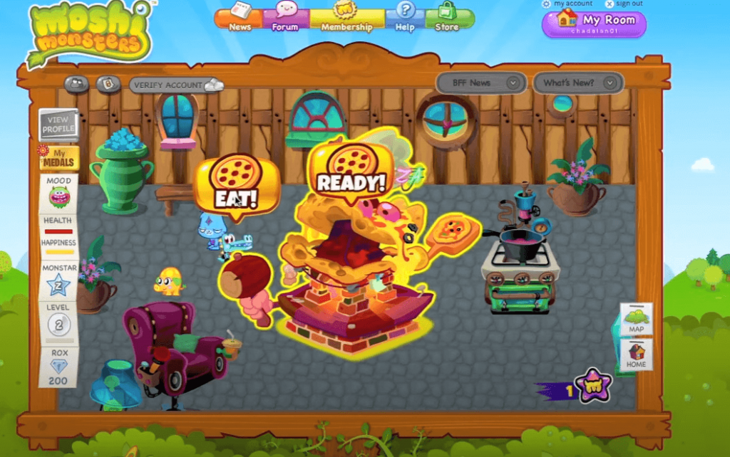 Moshi Monsters gameplay