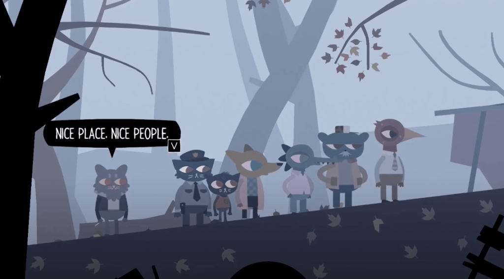 Night in the Woods gameplay