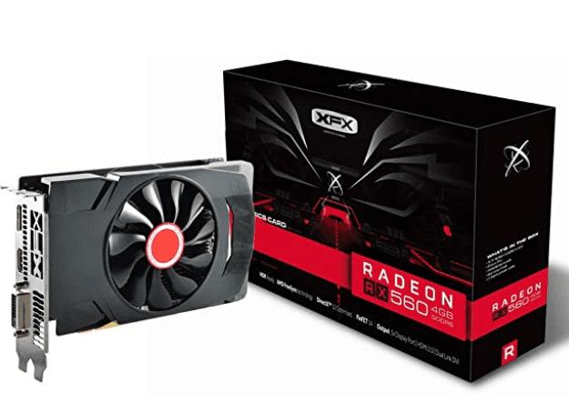 Radeon RX 560 1295MHz,4gb GDDR5, 16CU,1024 SP