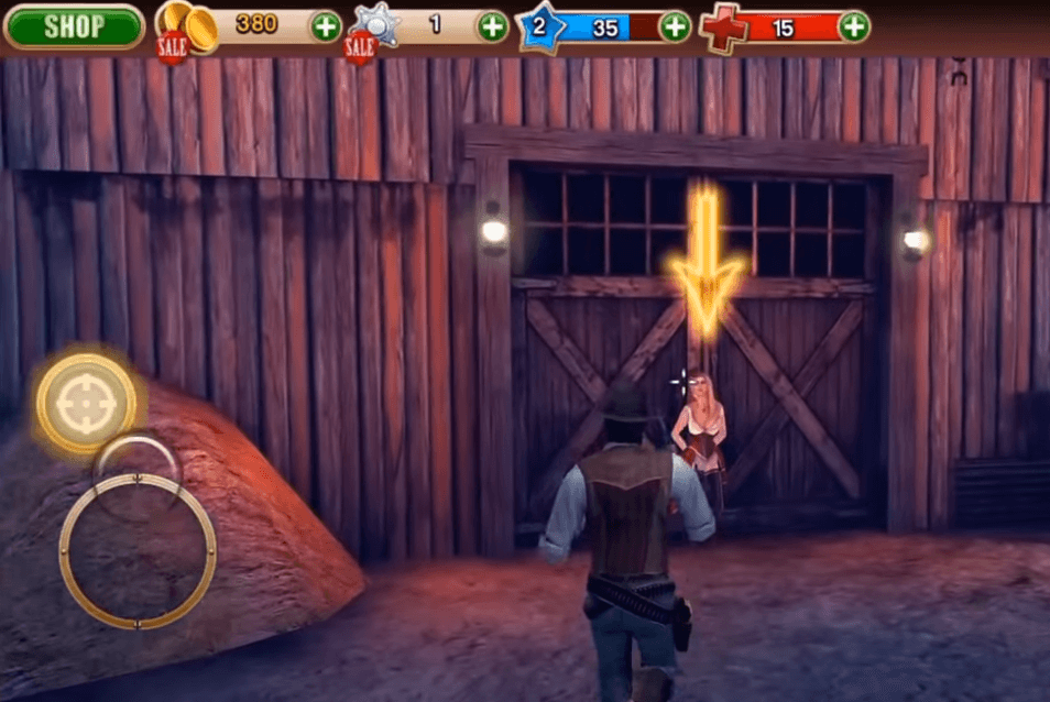 Six-Guns gameplay - a western open-world game for iOS and Android