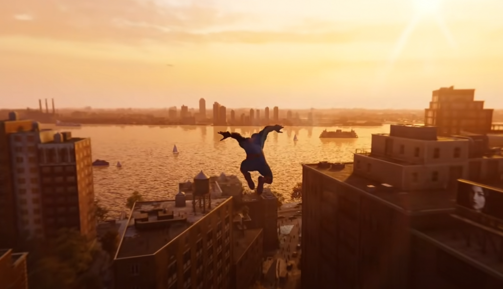 Spiderman gameplay for PS4 a city open world game