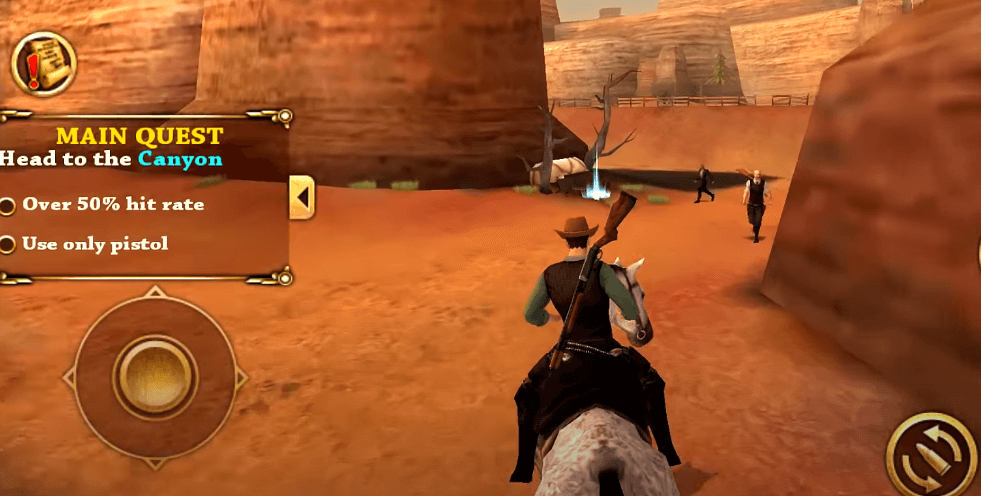 West Gunfighter gameplay - a western-style open world adventure game for Android