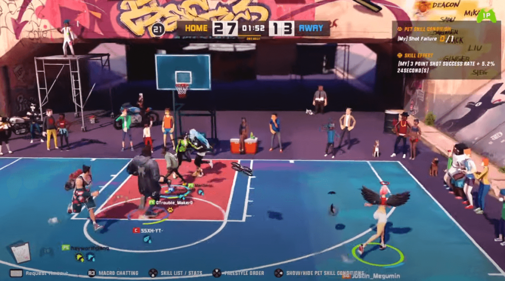 3on3 Freestyle basketball gameplay