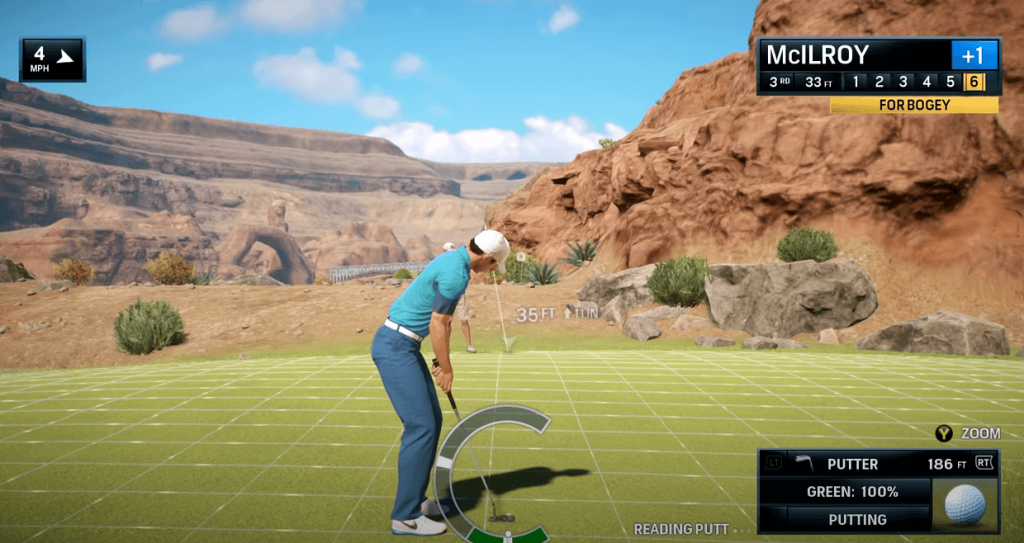 Rory McIlroy: PGA Tour - the golf game with best graphics for PS4