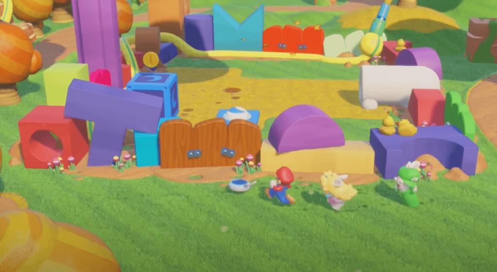 Mario + Rabbids Kingdom Battle is a colorful world