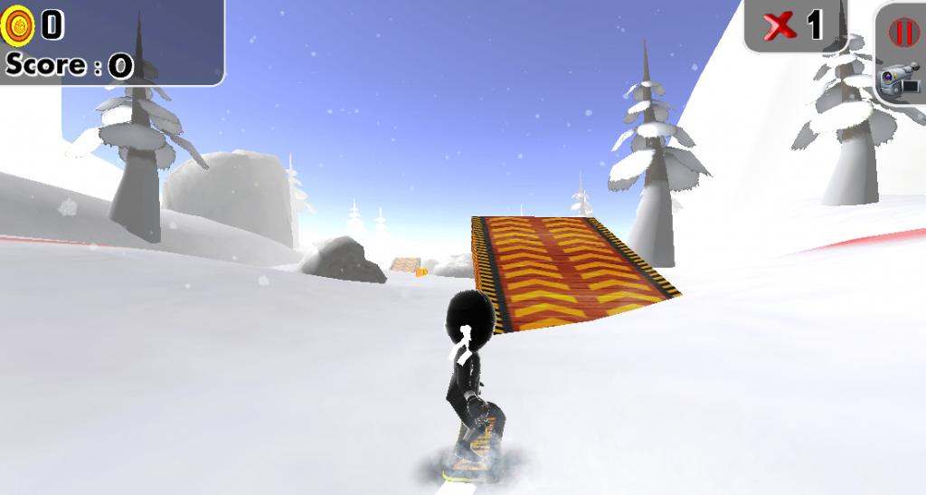 Ski Ninja gameplay